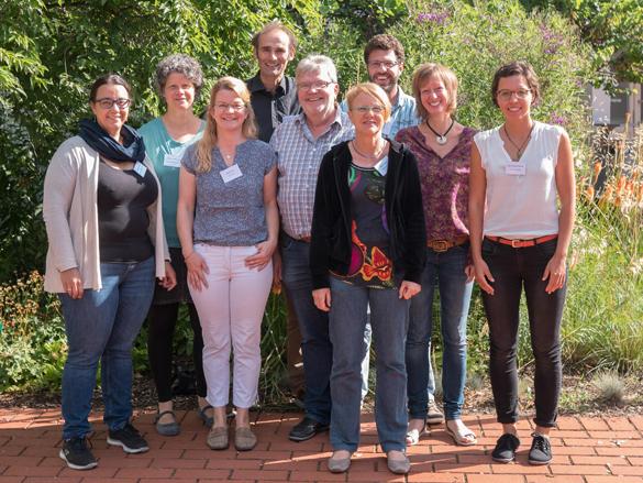 Die Mitglieder der Projektgruppe im Bio-Zierpflanzen-Projekt