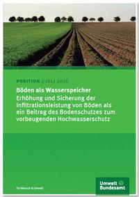 """Titelblatt der Broschüre """"Böden als Wasserspeicher """""""